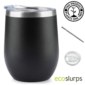 Reusable Double Wall Insulated Coffee & Wine Tumbler - EcoSlurps Store