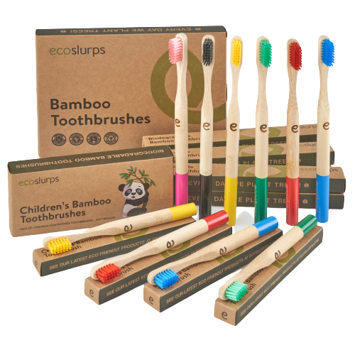 Bamboo Toothbrushes - EcoSlurps Store