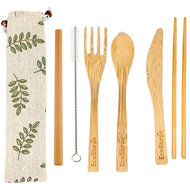 Reusable Bamboo Cutlery Set - EcoSlurps Store