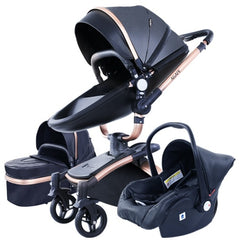 3 in 1 baby tricycle 360° luxury pram Travel system