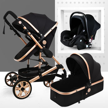 Baby 3 in 1 newborn baby car pushchair pram stroller