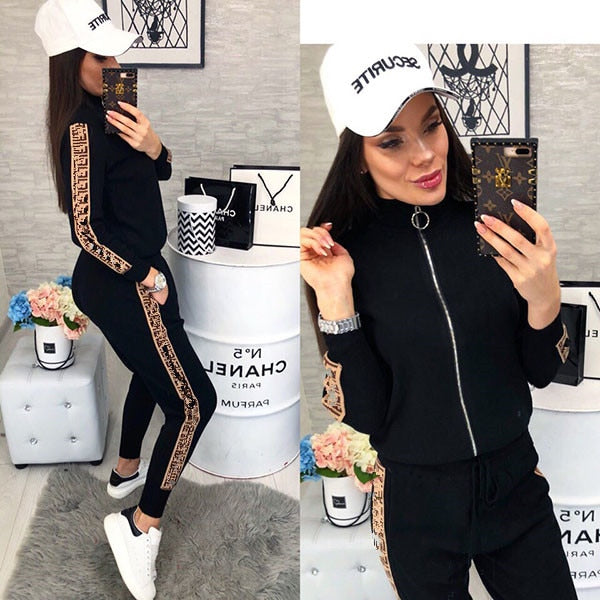 Sport Suits Fashion Printed Running Sets