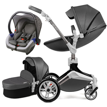 Hot Mom Baby Stroller 3 in 1 Luxury Pram F023