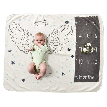 Newborn Baby Photography Prop Monthly Milestone Blanket
