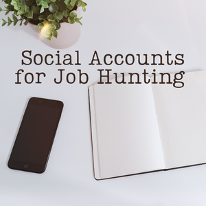 Social Accounts for Job Hunting
