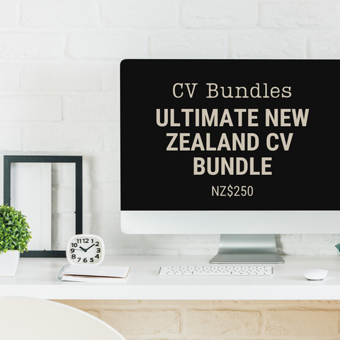 Ultimate New Zealand CV Bundle | NZ$250 | Add this item to your cart to pay the 50% deposit or the 50% balance