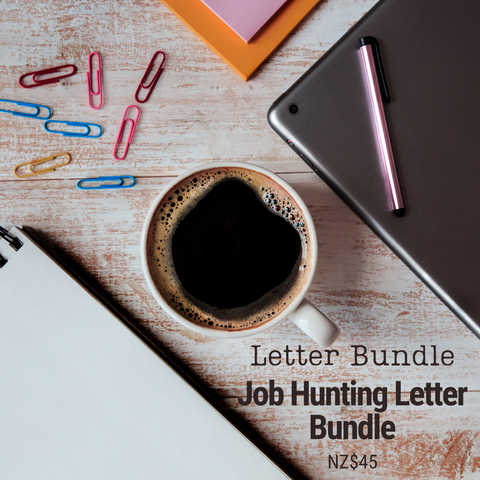 Job Hunting Letter Bundle | 7 Templates & Letter Examples