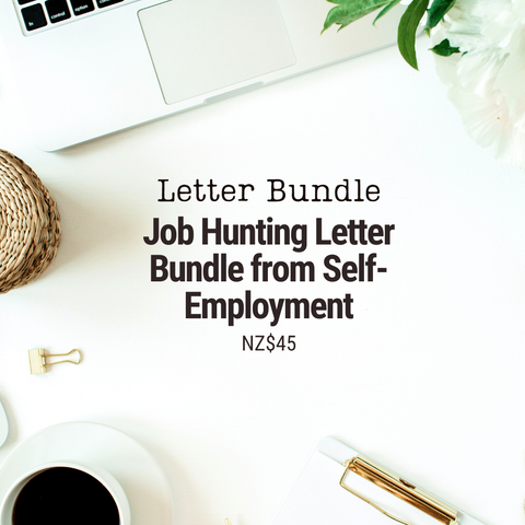 Job Hunting Letter Bundle From Self Employment | 6 Templates & Letter Examples