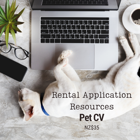 Rental Application Pet CV | NZ$35 | Add this item to your cart to pay 50% deposit or balance