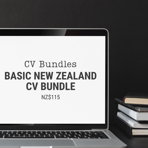 Basic New Zealand CV Bundle | NZ$115 | Add this item to your cart to pay the 50% deposit or the 50% balance