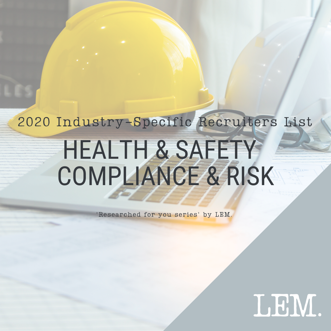 Health & Safety Compliance & Risk | 2020 NZ Industry-Specific Recruiters List | 16 Recruiters