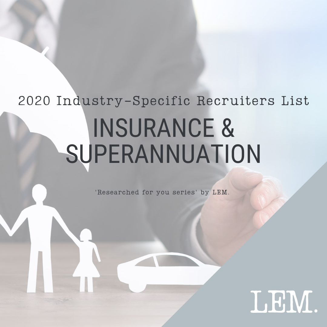 Insurance & Superannuation | 2020 NZ Industry-Specific Recruiters List | 12 Recruiters