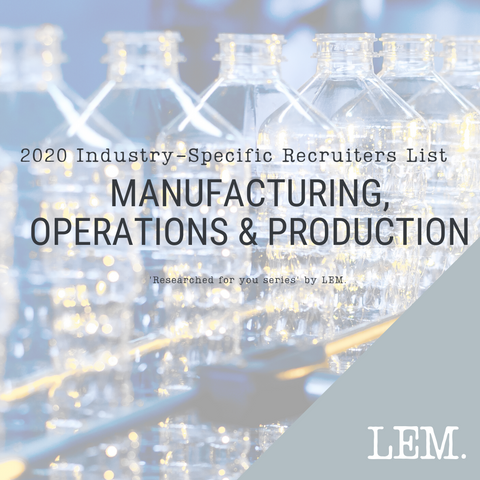 Manufacturing, Operations & Production | 2020 NZ Industry-Specific Recruiters List | 27 Recruiters