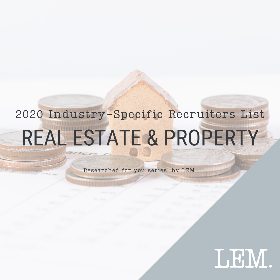 Real Estate & Property | 2020 NZ Industry-Specific Recruiters List | 19 Recruiters