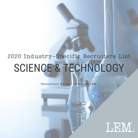 Science & Technology | 2020 NZ Industry-Specific Recruiters List | 8 Recruiters