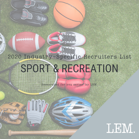 Sport & Recreation | 2020 NZ Industry-Specific Recruiters List | 5 Recruiters
