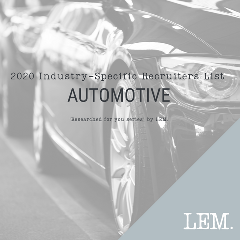 Automotive | 2020 NZ Industry-Specific Recruiters List | 4 Recruiters
