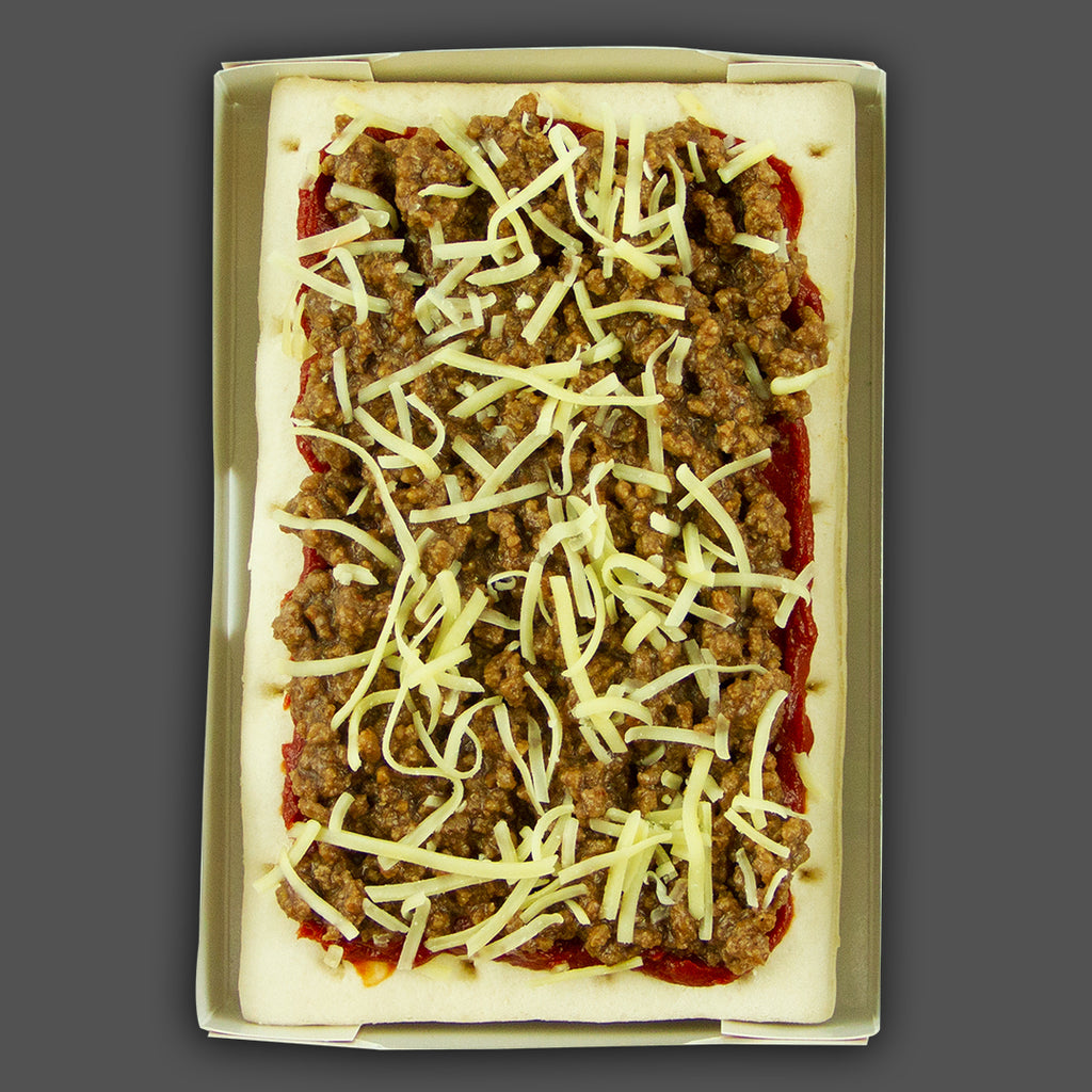 BBQ beef and onion ready-made frozen pizza, post workout meals