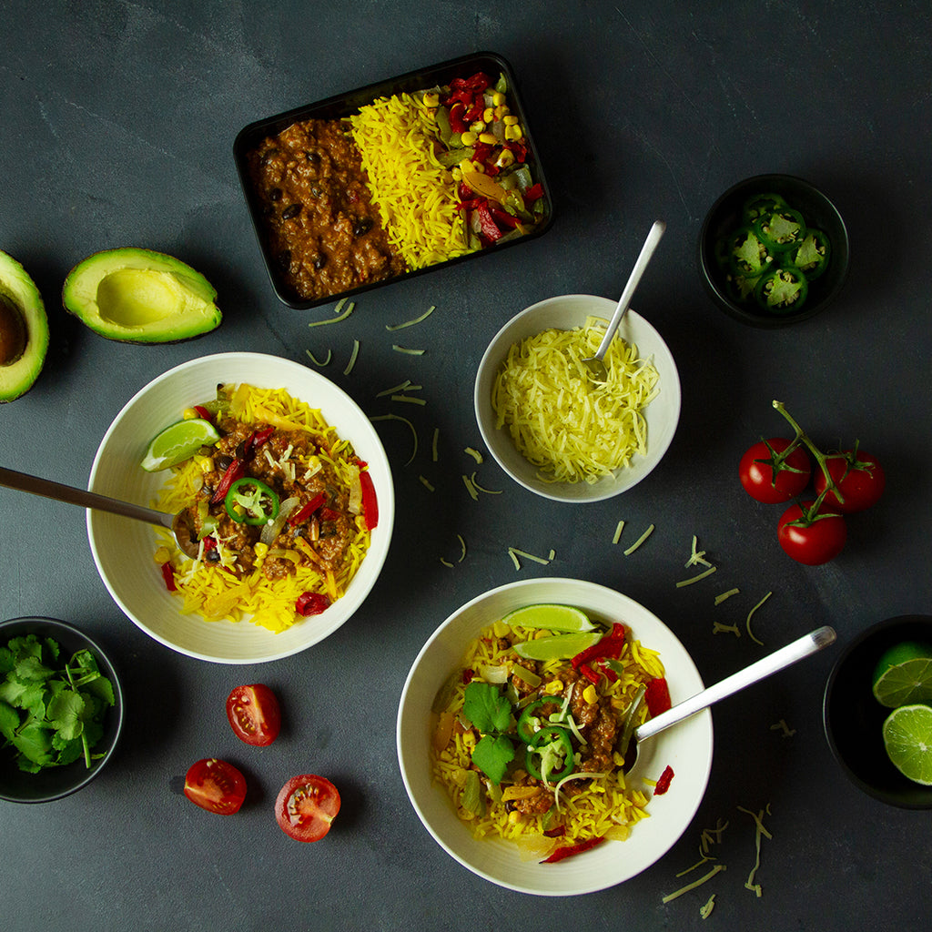 Beef taco bowl High Protein Portion Controlled Meals delivered Australia wide