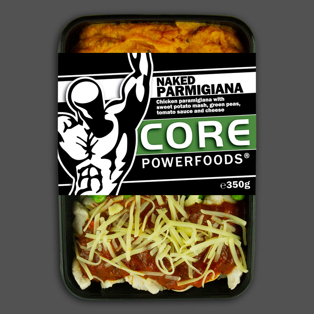 Naked chicken parmigiana, new flavours, great taste bodybuilding muscle meals