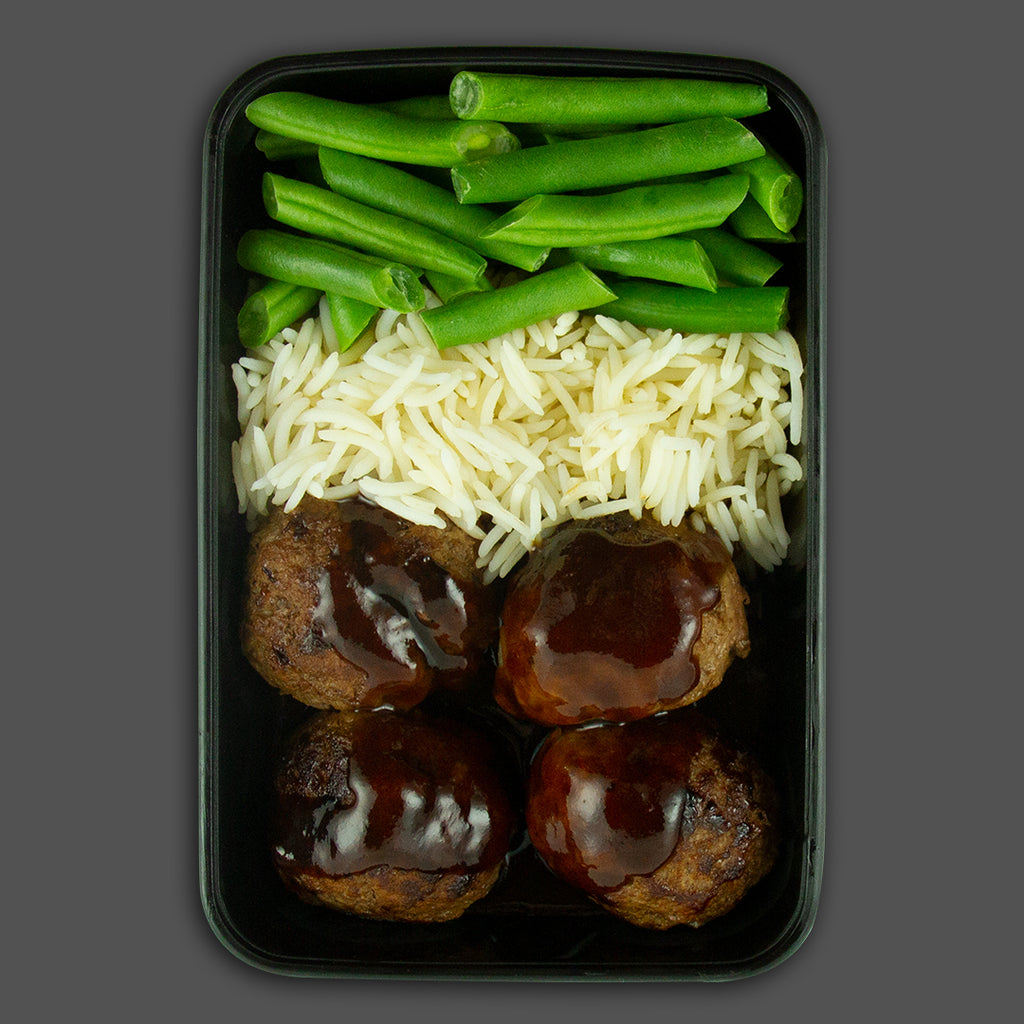 Smokey mountain meatballs, high in protein fitness meals delivered