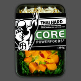 Thai hard vegetarian red curry, high in protein fitness meals delivered