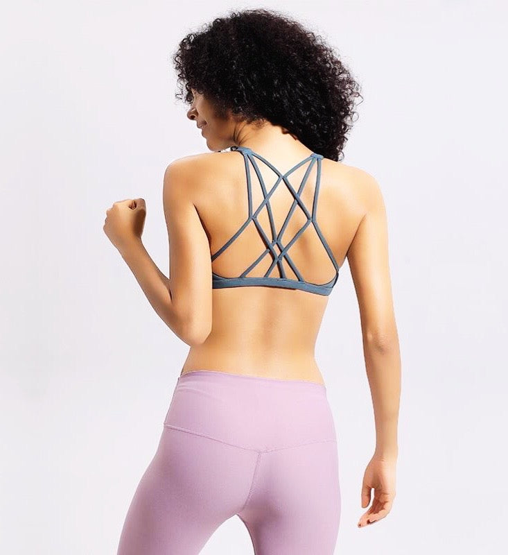 Cross Strap Light Support Sports Bra