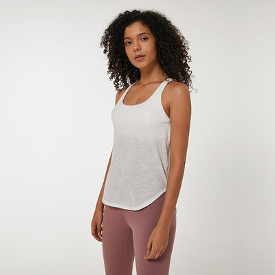 23degrees - 23degrees - tank tops - 2-in-1 Tank with Bra Loose Fit Gym Tank Top
