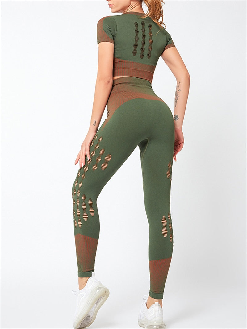 SYNERGY Green Leggings