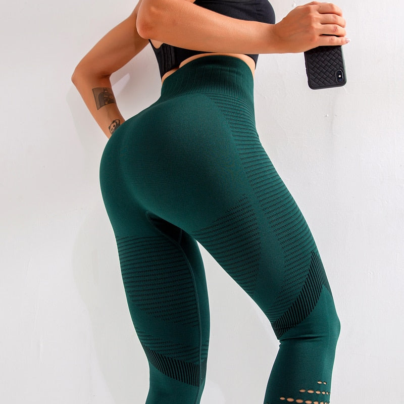 ENERGY High Waist Green Sport Leggings