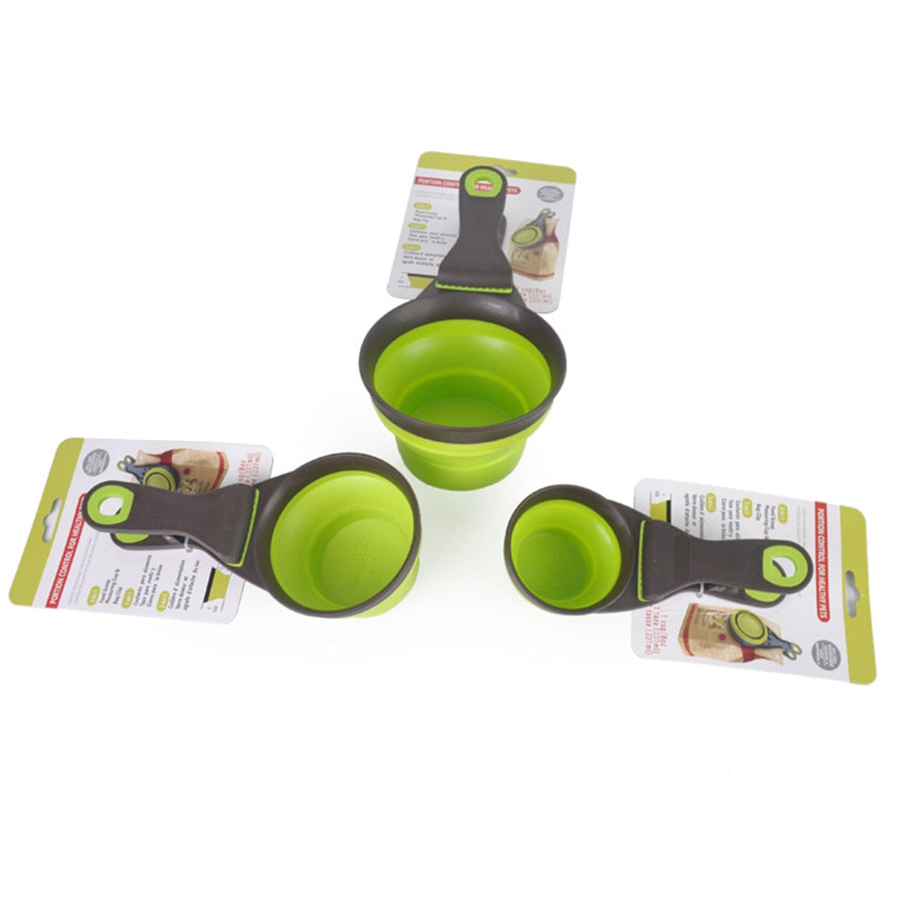 3-IN-1 Pet Food Measuring Cup, Scoop Spoon and Bag Seal Clip
