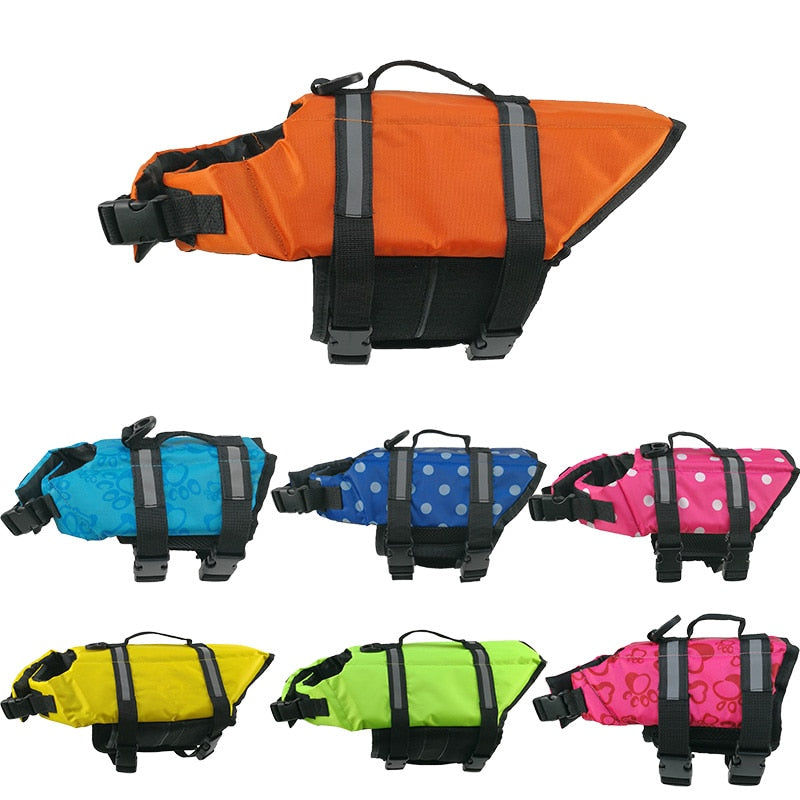 Pet Dog Life Jacket Safety Clothes for Pet Life Vest Puppy Swimwear Surfing Swimming Vest Reflective Stripes Summer Swimwear