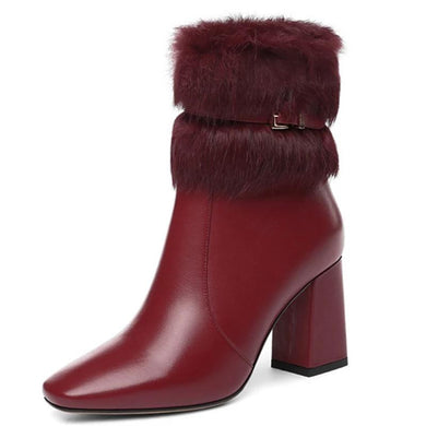 442 Genuine leather ankle boots for women