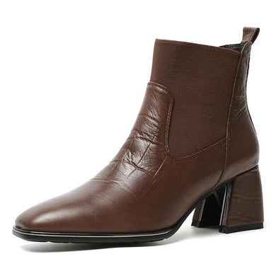 008 Women Classic Genuine Leather Ankle Boots