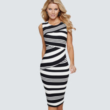 Load image into Gallery viewer, 333 Striped Elegant Dress