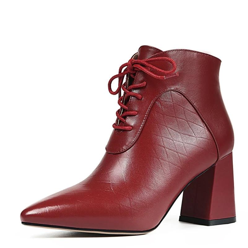 100 Ankle Boots Genuine Leather
