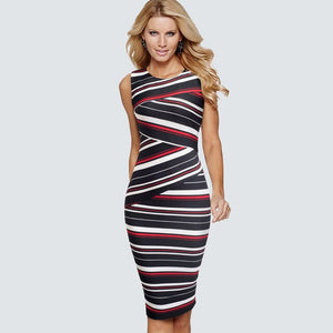 333 Striped Elegant Dress