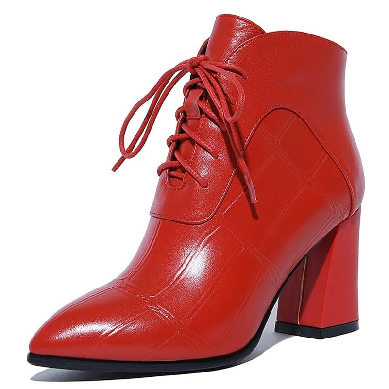 2000 Ankle Boots Genuine Leather