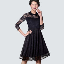 Load image into Gallery viewer, Black Lace Dress Ladies