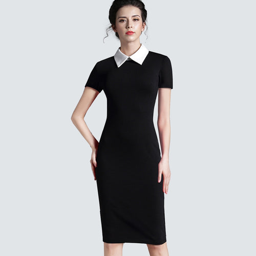 0052  Casual Dress with Collar
