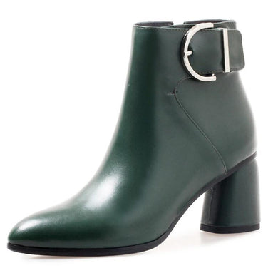 4001 Women Ankle Boots Genuine Leather