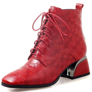O22 Genuine Leather Ankle Boots