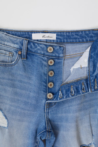 Leopard Patch denim