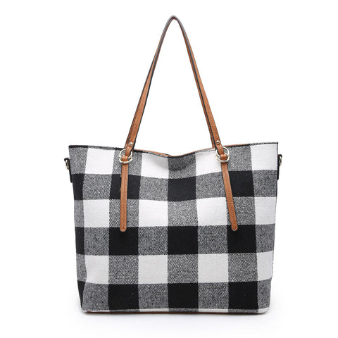 Ingrid Plaid Tote