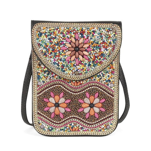 Artisan Beaded Crossbody