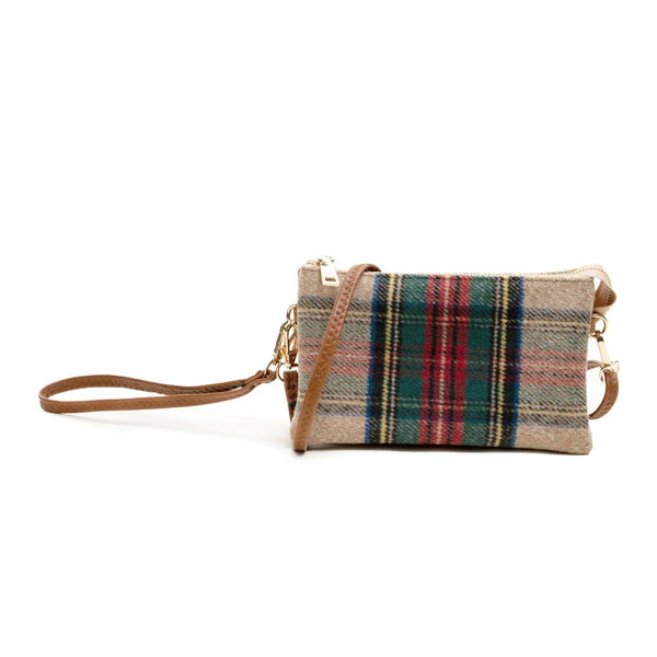 Riley Wristlet Plaid