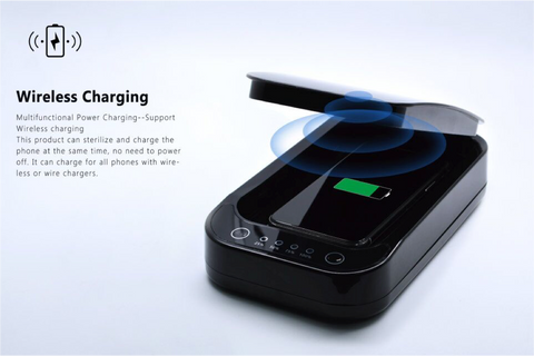 PhoneShower Sanitizer with wireless charger