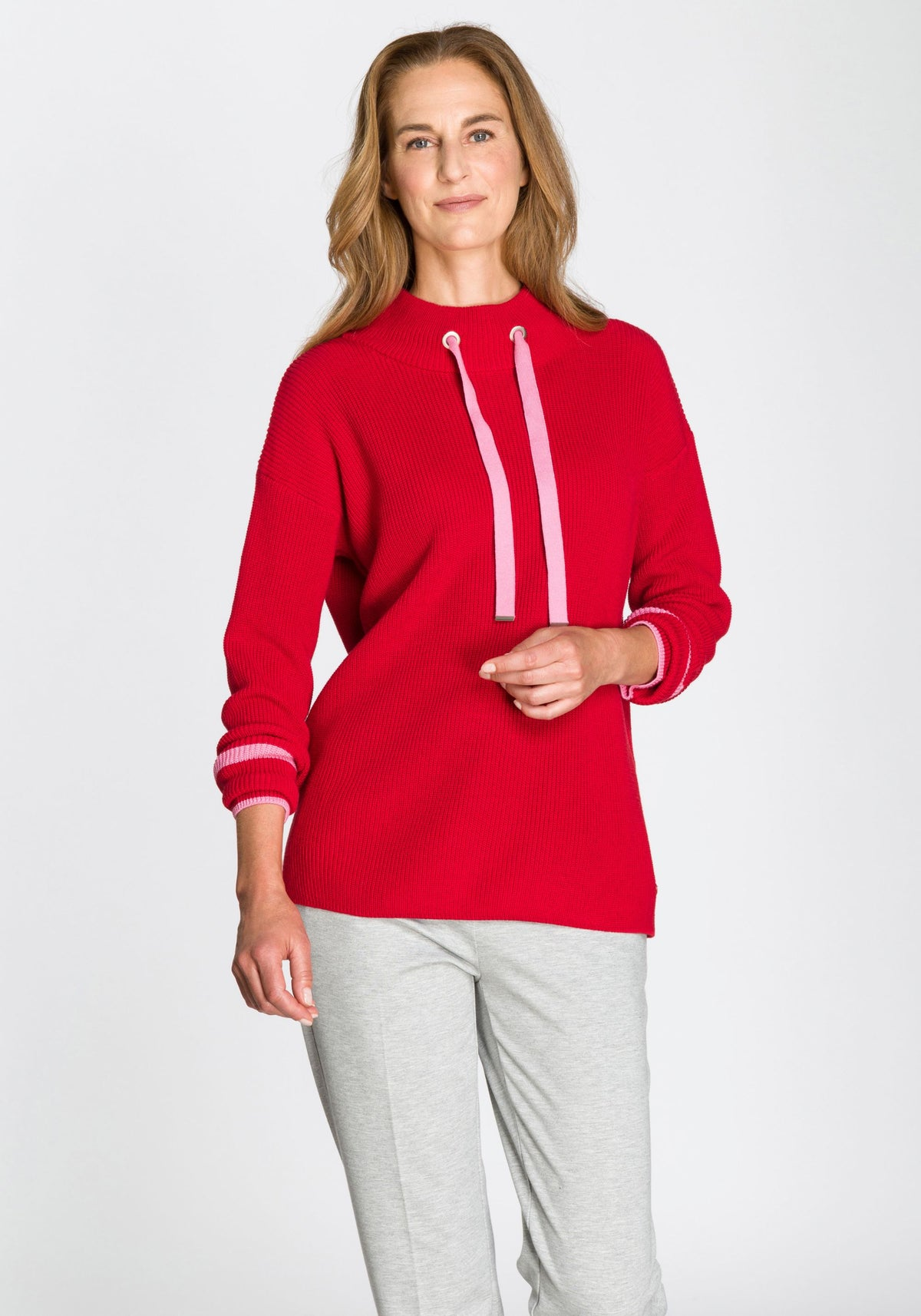 Sporty Contrast Trim Sweater