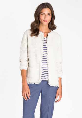 Fringe Trim Cardigan Jacket
