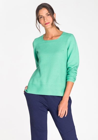 Square Neck Pullover Sweater